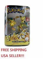 ANIME TOMY Pokemon Evolution 3-Pack Pichu Pikachu Raichu Figure Rare