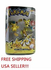 ANIME TOMY Pokemon Evolution 3-Pack Pichu Pikachu Raichu Figure Rare