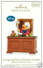 2010 Hallmark Mickey's Christmas Carol Scrooge McDuck as Ebenezer Ornament!