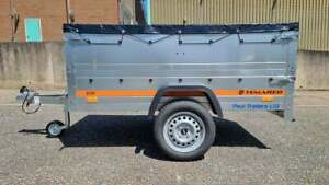 7ft x 4ft 750 kg Gross Extended Sides Canvas Top Single Axle Trailer