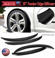 "4 Pcs 10"" Carbon Diffuser Flare Lip Protector Trim For Mazda Subaru Wheel Fender"