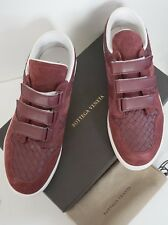 NIB Authentic BOTTEGA VENETA Burgundy Suede Low-Top Sneakers Shoes EUR-45 US-12