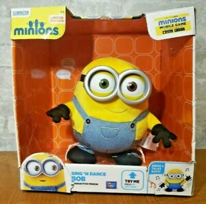 New MINIONS Interactive Sing' N Dance Bob Movie Exclusive Toy Voice Response Box