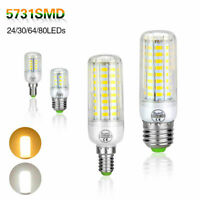 E14 E27 Corn Led 5730 SMD Light Lamp Candle LED AC 110V 220V Bulb