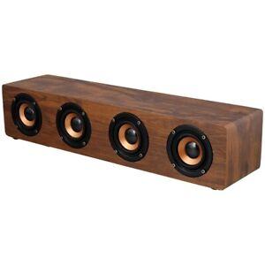 Wooden soundbarm wireless, good bass