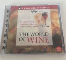 Library Product THE WORLD OF WINE PC CD-ROM Reference New Sealed Robert Mondavi