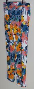 Sportscraft pull on elastic waist viscose floral pants Size 12