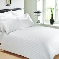 RHF Sateen Stripe White Hotel Quality 100% Egyptian Cotton Bedding