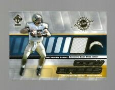 DREW  BREES 2001 PRIVATE STOCK GAME WORN GEAR ROOKIE #122