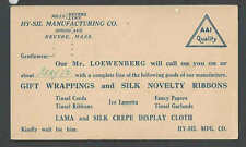 1931 PC HY-Sil Mfg Co Cleveland Oh Offers Gift Wrapping & Tinsel Cord See Info