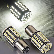 2x White BAY15D 1157 80SMD 1210 LED Bulb Tail Stop Brake Light Lamp Super Bright