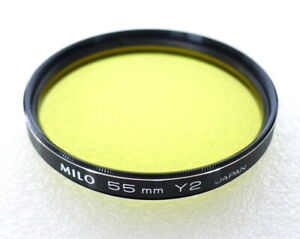 55mm MILO Y2 Filter - YELLOW B&W Contrast - NEW