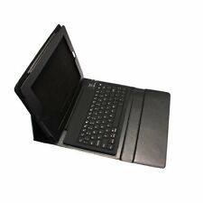 Black Bluetooth Wireless Silicon Keyboard Keypad Leather Case Cover For iPad 2/3