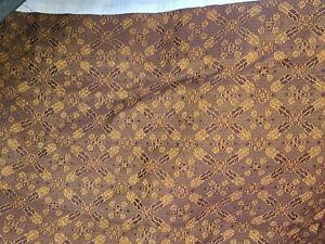 """Croscill Galleria Queen Bedskirt Red Brown Gold 15"""" Drop Split"""
