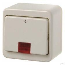 Berker Kontrollschalter Wippschalter 2-polig mit roter Leuchte polarweiss AP