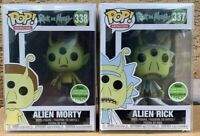 FUNKO POP! Alien Rick Morty SET Spring Convention *NEW*