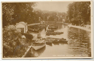 The Boating Station, Hythe Canal, 1931 postcard to Lily Marshall, Hastings