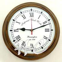 "Antique Brass Birmingham Nautical Est 1792 Ship's Vintage Wall Clock Working 10"""