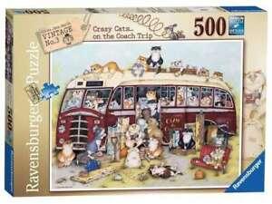 Ravensburger Puzzle 500pc - Crazy Cats… on the Coach Trip 4750-2