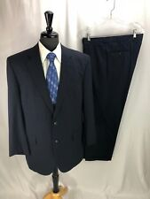 Brooks Brothers Brooks Cool Madison Men's Blue Pinstripe Suit 42R 36 x 29