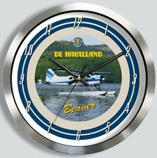 DE HAVILLAND BEAVER METAL WALL CLOCK dehavilland dhc2 dhc 2