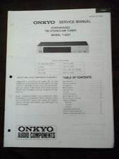Onkyo Service Manual for the T-4037 Tuner ~ Repair Manual