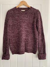 Barbour Purple Wool Blend Jumper Size 10
