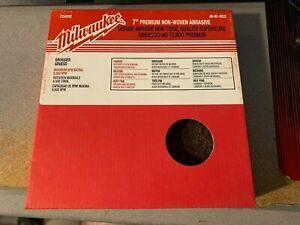 "Milwaukee 7"" Premium Non-Woven Abrasive Coarse Disc 3 pack New"