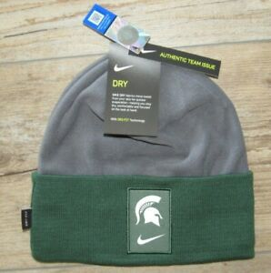 Nike Michigan State Spartans Authentic Team Issue Winter Cuffed Hat Cap Men's