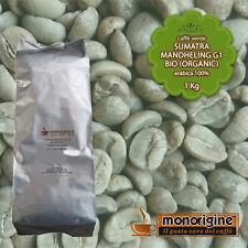 Caffè Verde Arabica Biologico in grani Sumatra Mandheling BIO (Organic) - 1 Kg
