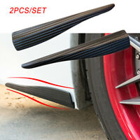 2X Carbon Fiber Car Bumper Door Edge Anti Scratch Crash Strips Trim Accessories