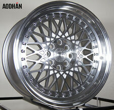 Aodhan Ah05 16X8 4X100/114.3 +15 Machined Rims 4 Lug Civic Jetta Miata Xb Ek
