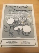 Latin Guide For Drummers by John Rae Professional Drum Shop, Inc 1969 Rare Book