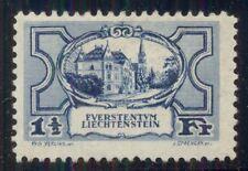 LIECHTENSTEIN #80 1 ½ Fr. Blue, og LH, VF, Scott $82.50