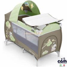 Lettino CAM Daily Plus da viaggio grigio verde infanzia baby
