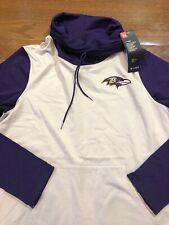 Womens Size Large Under Armour Baltimore Ravens Sweatshirt Cowl Neck NFL