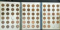 Australian Half Penny collection set 1911 to 1964 IN OLD ALBUM NO 1923 .