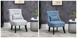 Single Sofa Chair Wood Tufted Armchair Living Room Bedroom Seat Lounge Fabric