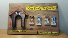 Who's in the Doghouse? Family of 4 Wall Assorted Dogs Plaque Made in the USA