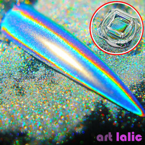 Chameleon Glitter Dust Mirror Effect Nail Art Chrome Pigment Holographic Powder