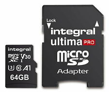 Integral UltimPro 64GB Micro SD Card 4K Ultra-HD Video Premium High Speed Memory