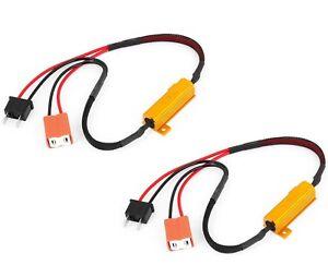 Wire LED Resistor Canceler Error H7 Head Light Low Beam Bulb Flicker Stop Lamp