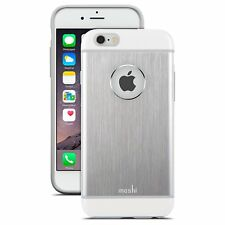 Moshi iGlaze Armour Slim Metallic Aluminum Cover Case For iPhone 6 6S Jet Silver
