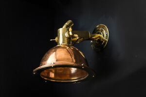 Vintage Russian Cargo Ship Copper and Brass Wall Light