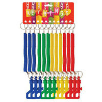 RETRACTABLE SPIRAL STRETCHY KEYRING CHAIN BOYS GIRLS BIRTHDAY PARTY BAG FILLERS