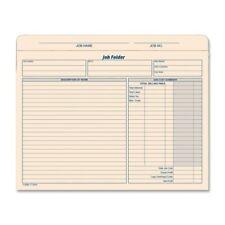 Tops Job Folder File Jacket Letter 850 X 11 Manila 1 Pack Top3440