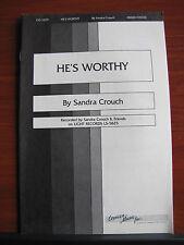 He's Worthy - 1983 sheet music gospel - Mixed vocal, piano, guitar chords