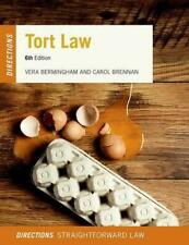 Tort Law - Directions 6th Edition by Vera Bermingham and Carol Brennan as New