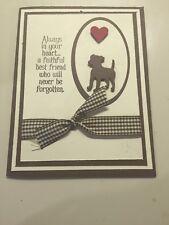 Handmade Sympathy Card for Loss of Beloved Dog...Look