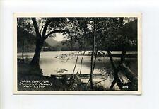 "Blue Lakes Park CA Lake County RPPC real photo, boats, ""like a big mirror"""